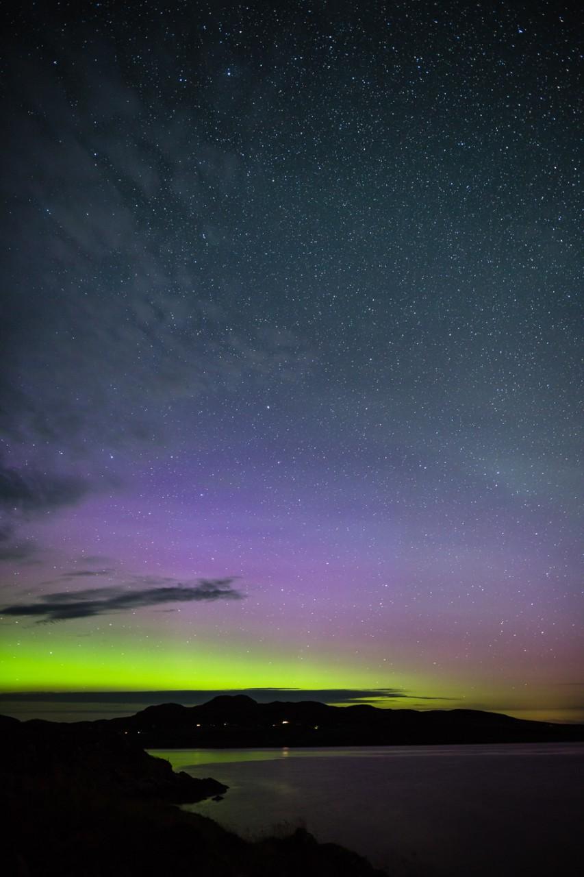 Tanera Mor northern lights